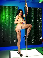 Romi gets nasty on the stripper pole