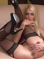 Lena Love Blondie spreads her legs for you